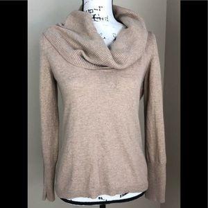 Banana Republic Camel Wool Blend Cowlneck Sweater
